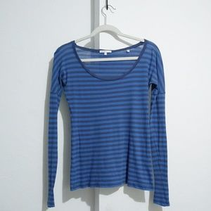 Vince blue striped t shirt Size S